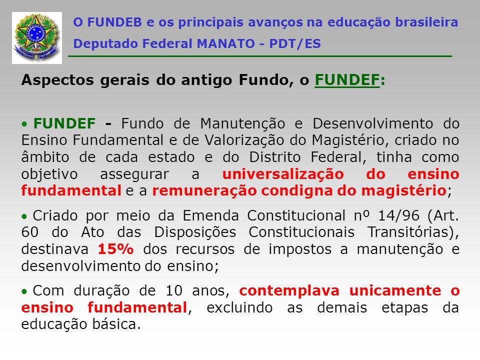 Aspectos gerais do antigo Fundo, o FUNDEF: