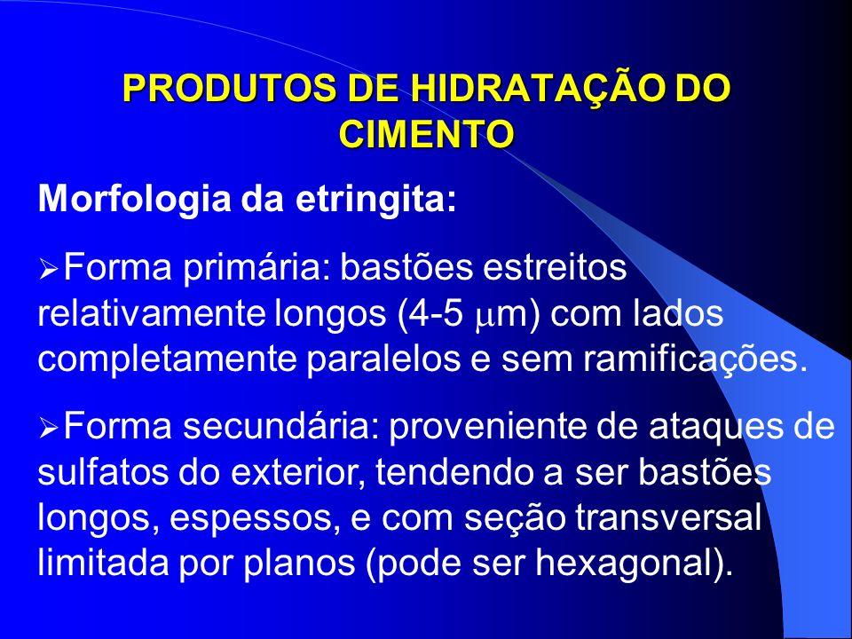PRODUTOS DE HIDRATAÇÃO DO CIMENTO