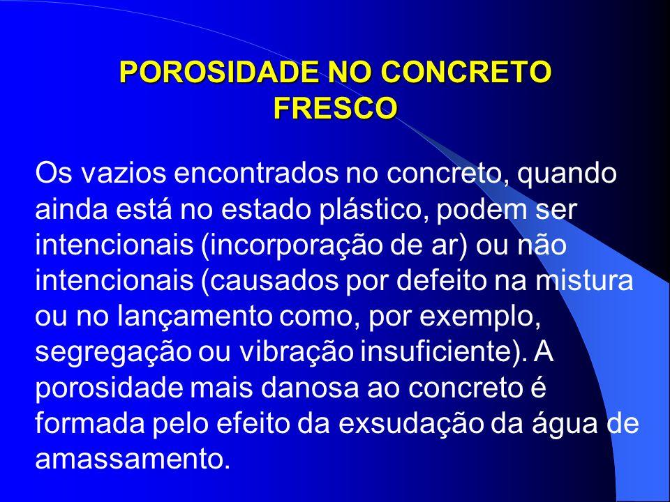 POROSIDADE NO CONCRETO FRESCO