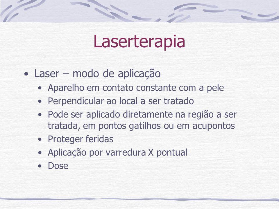 Laserterapia Laser – modo de aplicação