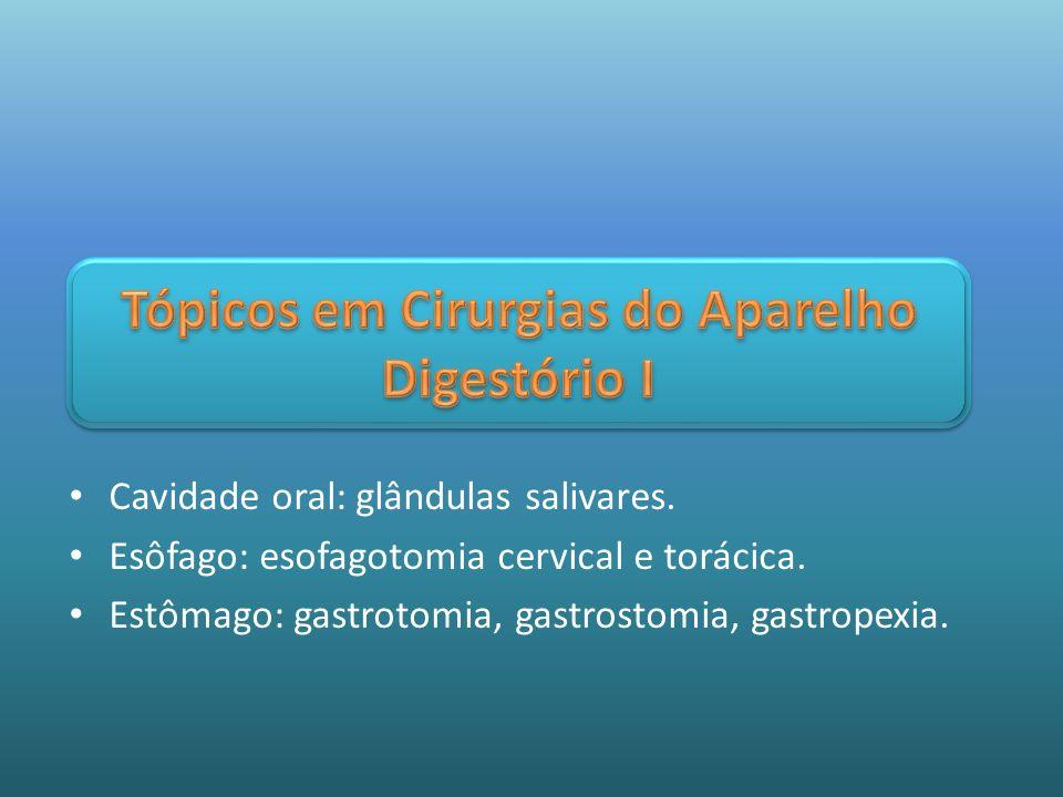 Tópicos em Cirurgias do Aparelho Digestório I