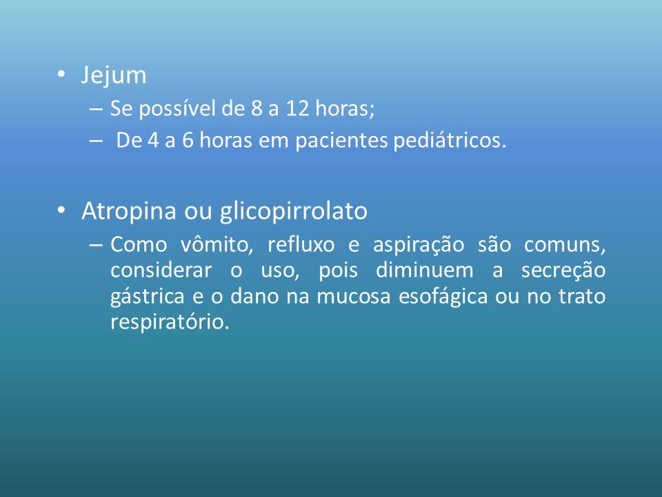 Atropina ou glicopirrolato