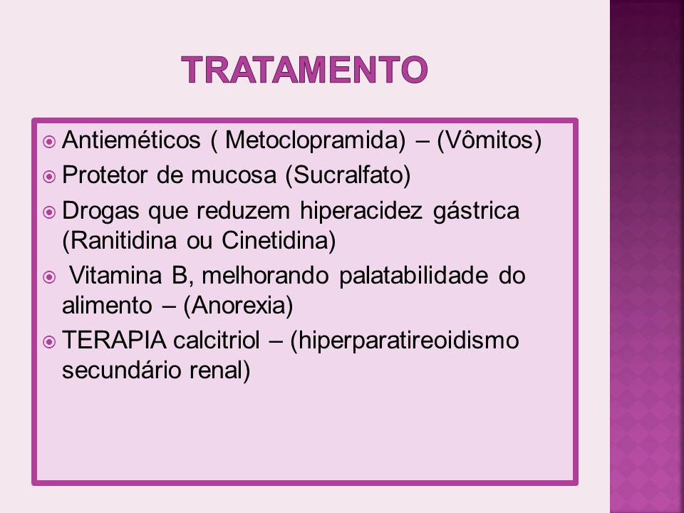 tratamento Antieméticos ( Metoclopramida) – (Vômitos)