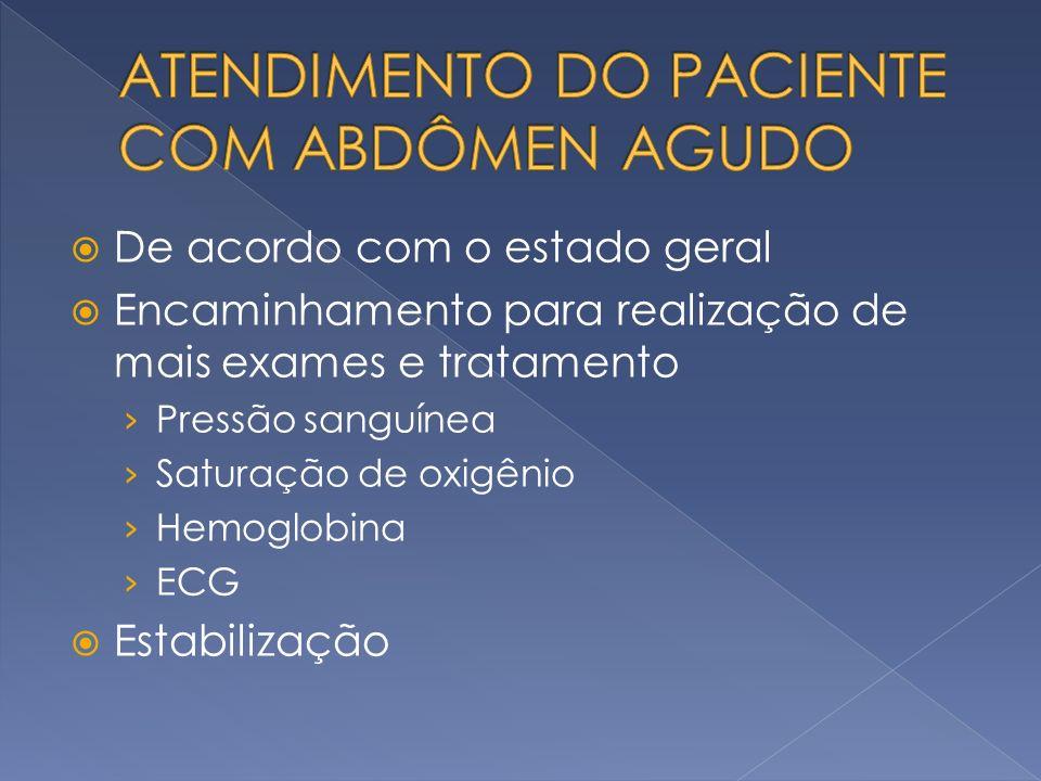 ATENDIMENTO DO PACIENTE COM ABDÔMEN AGUDO