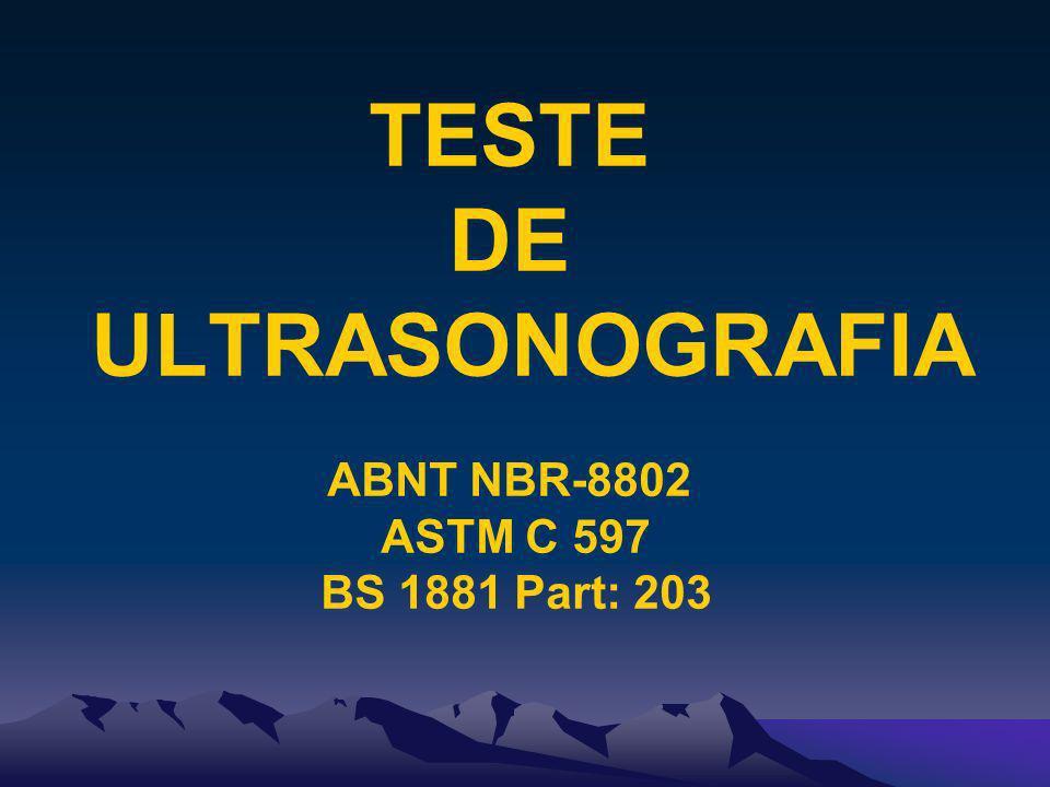 TESTE DE ULTRASONOGRAFIA