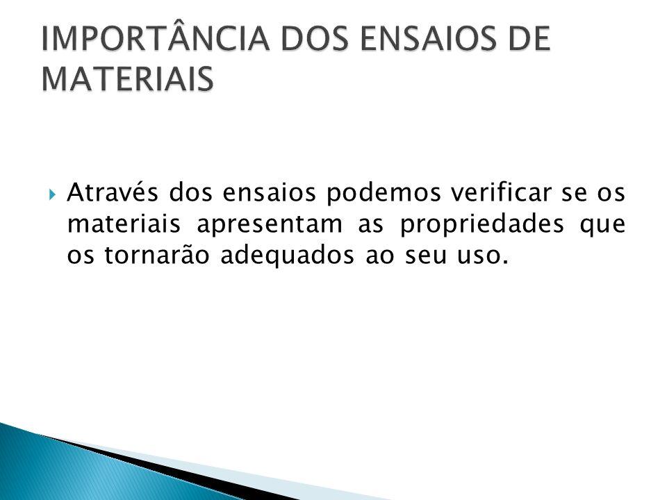 IMPORTÂNCIA DOS ENSAIOS DE MATERIAIS