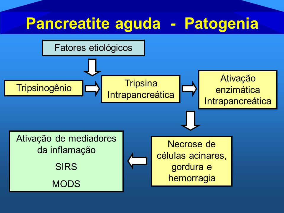 Pancreatite aguda - Patogenia