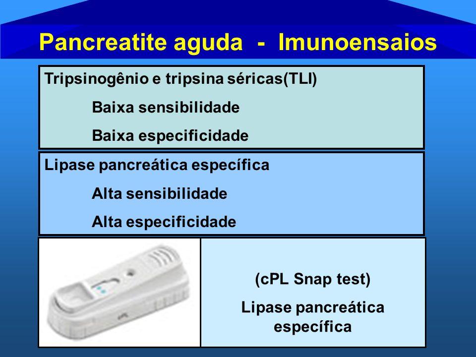 Pancreatite aguda - Imunoensaios Lipase pancreática específica