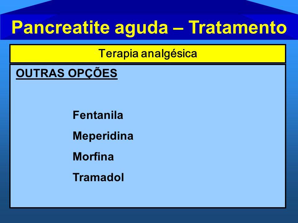 Pancreatite aguda – Tratamento