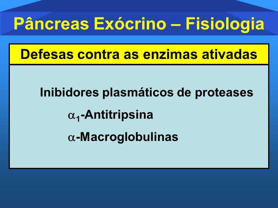 Pâncreas Exócrino – Fisiologia Defesas contra as enzimas ativadas