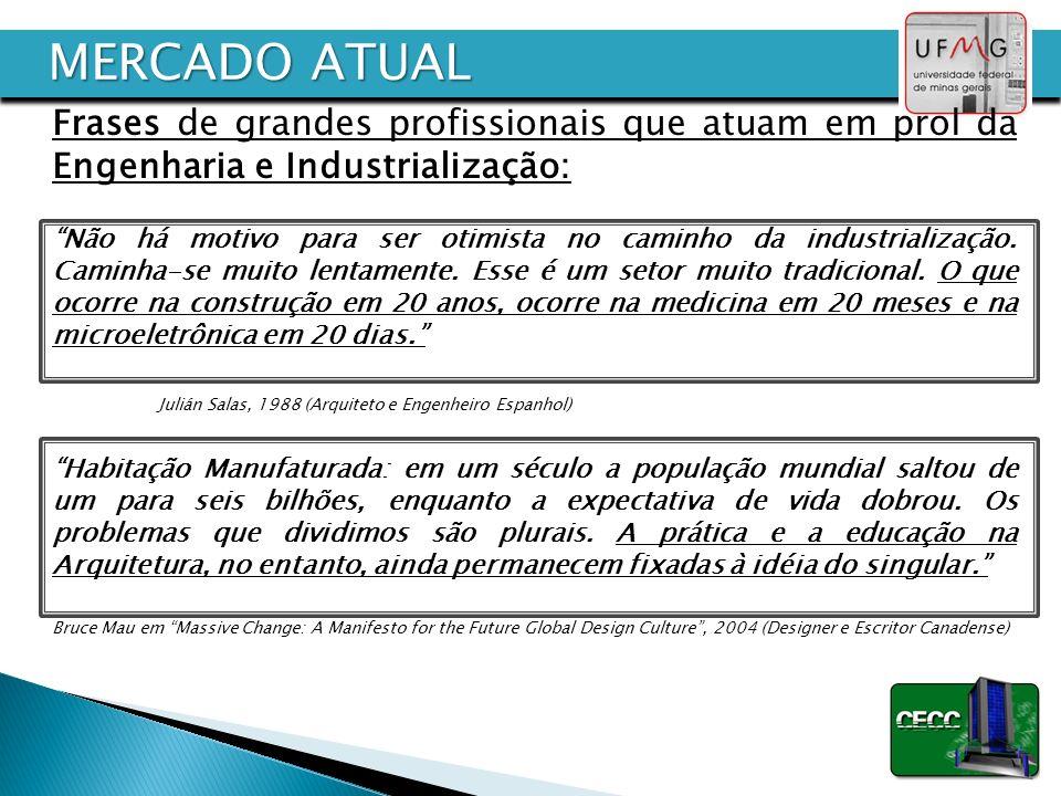 MERCADO ATUAL Frases de grandes profissionais que atuam em prol da Engenharia e Industrialização:
