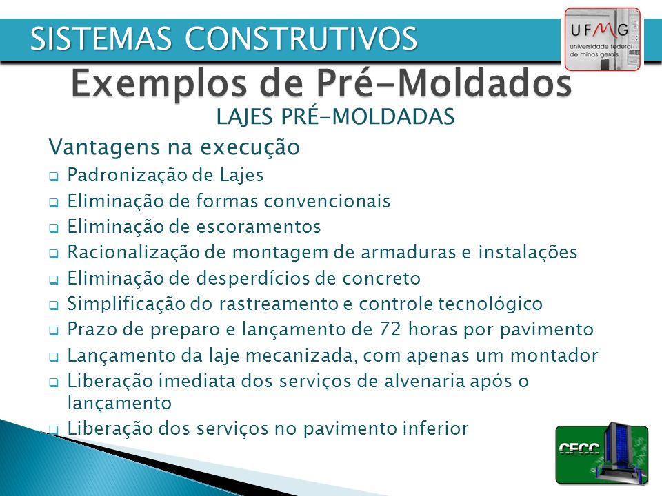 Exemplos de Pré-Moldados