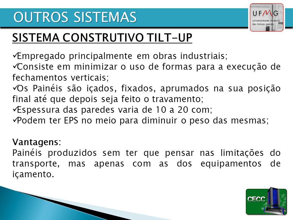 OUTROS SISTEMAS SISTEMA CONSTRUTIVO TILT-UP