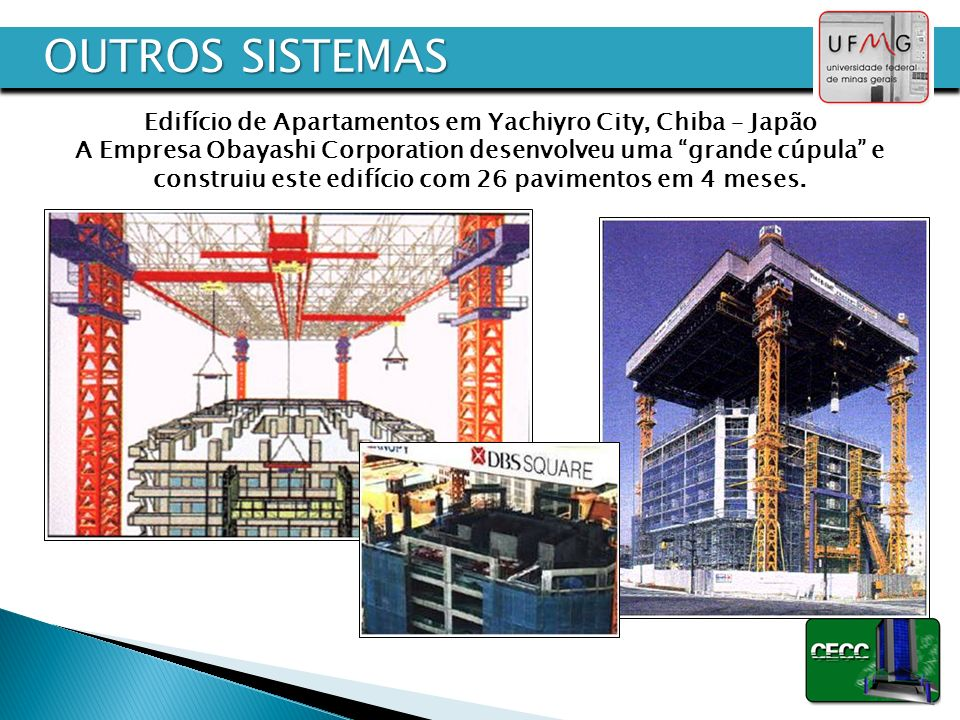 OUTROS SISTEMAS Edifício de Apartamentos em Yachiyro City, Chiba – Japão. A Empresa Obayashi Corporation desenvolveu uma grande cúpula e.