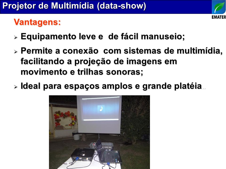 Projetor de Multimídia (data-show)