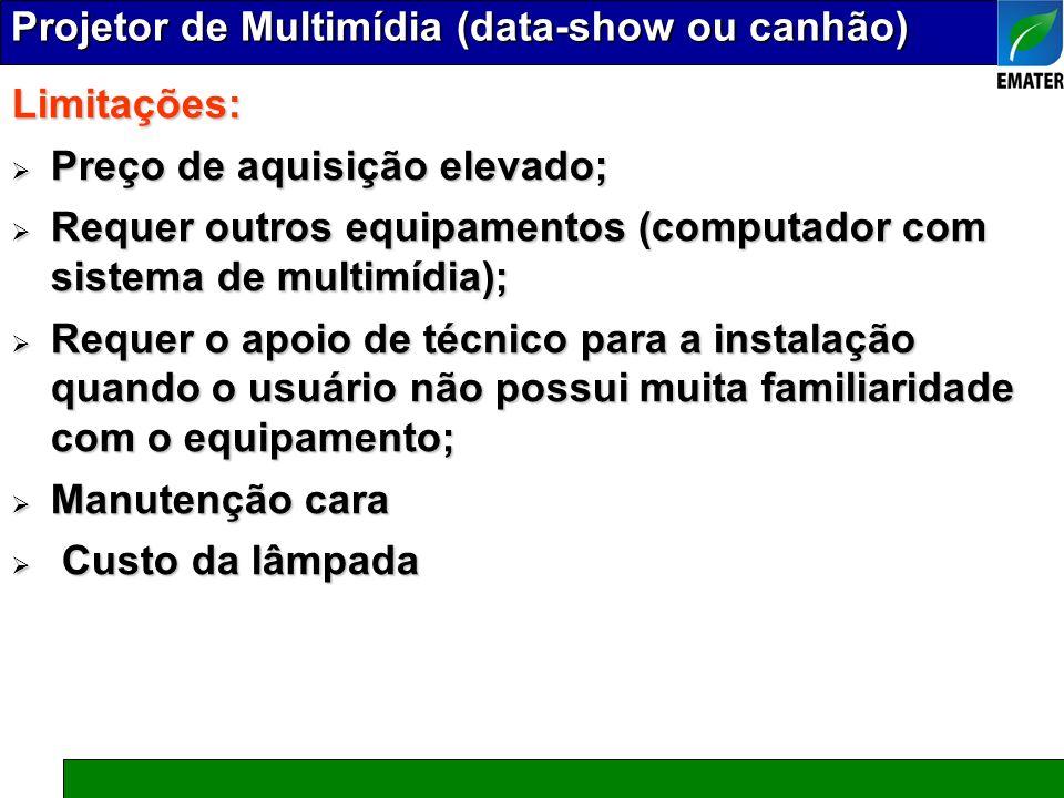Projetor de Multimídia (data-show ou canhão)