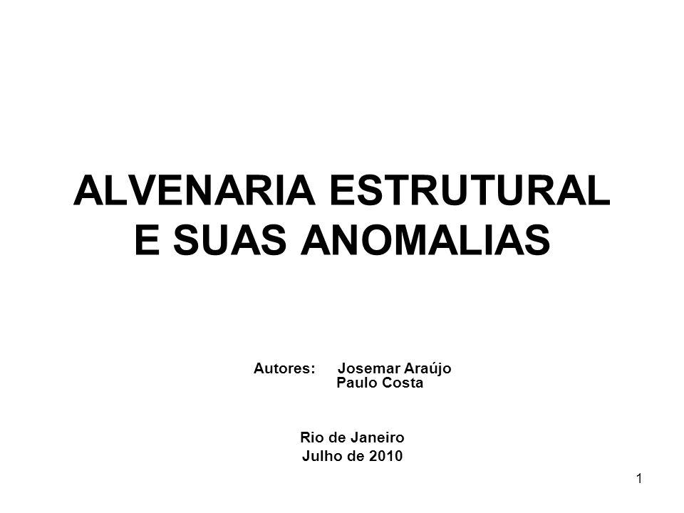 ALVENARIA ESTRUTURAL E SUAS ANOMALIAS