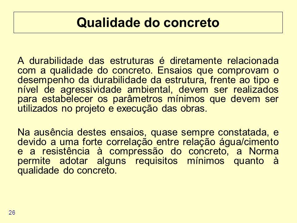 Qualidade do concreto
