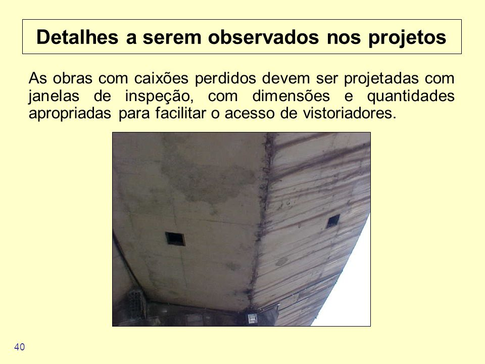 Detalhes a serem observados nos projetos