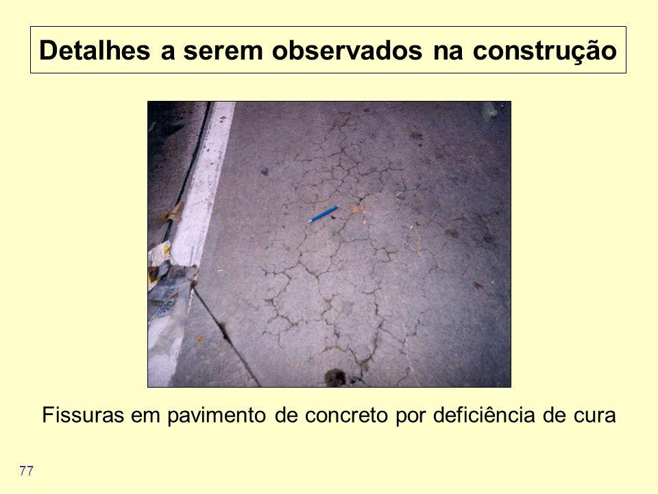 Detalhes a serem observados na construção