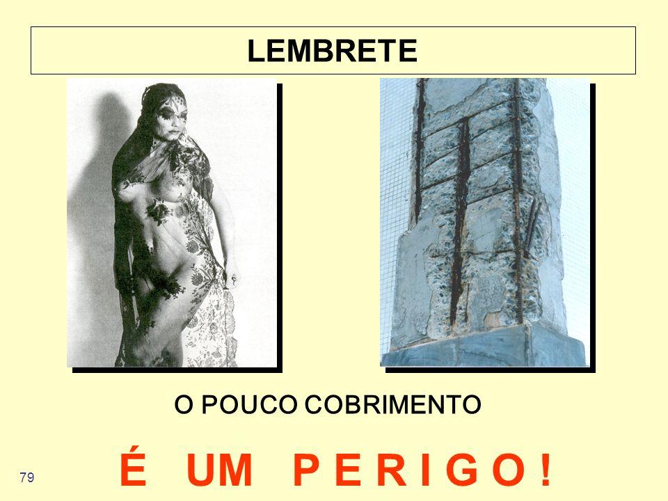 LEMBRETE O POUCO COBRIMENTO É UM P E R I G O !