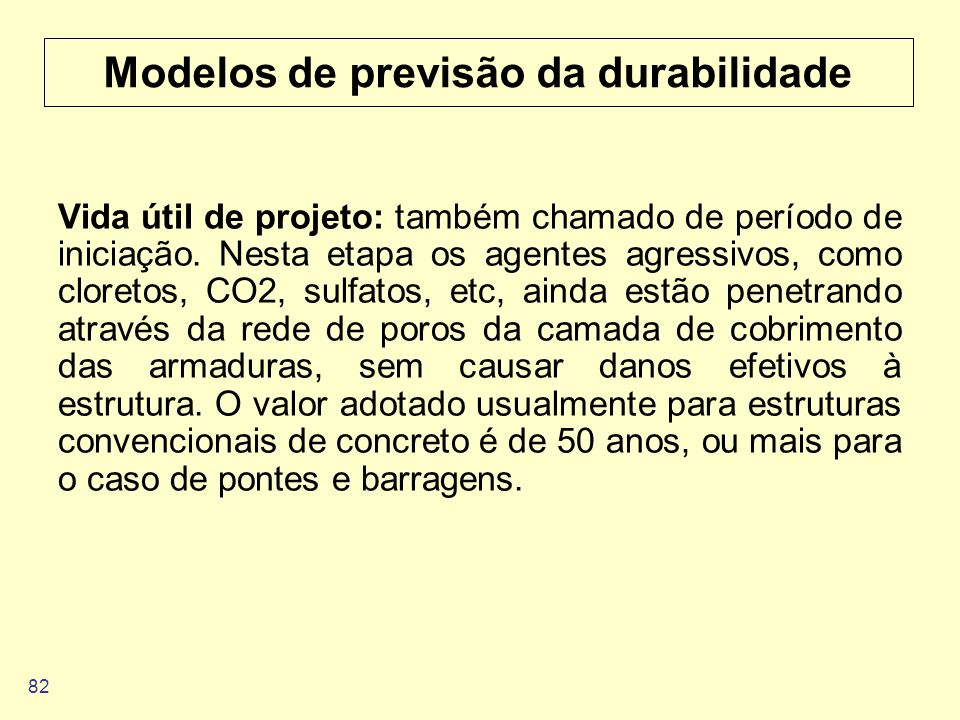 Modelos de previsão da durabilidade