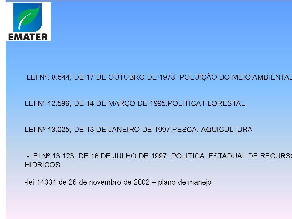 + LEI Nº. 8.544, DE 17 DE OUTUBRO DE 1978. POLUIÇÃO DO MEIO AMBIENTAL