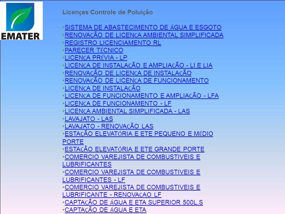 PP Licenças Controle de Poluição