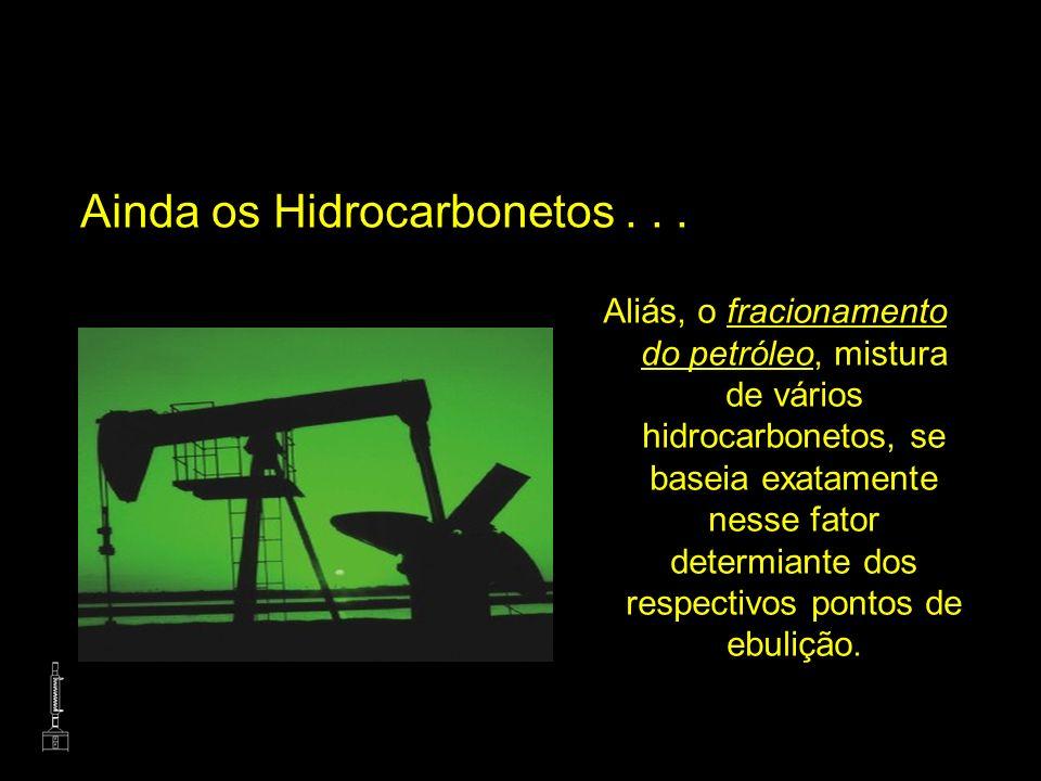 Ainda os Hidrocarbonetos . . .