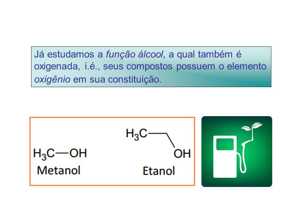 Já estudamos a função álcool, a qual também é oxigenada, i. é