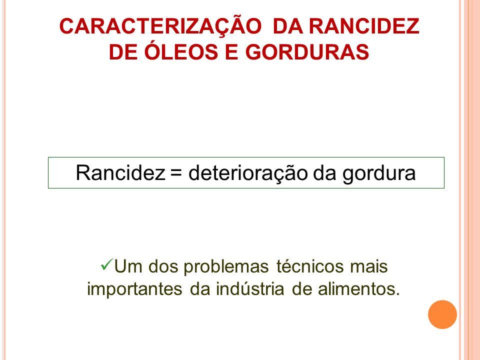 CARACTERIZAÇÃO DA RANCIDEZ DE ÓLEOS E GORDURAS