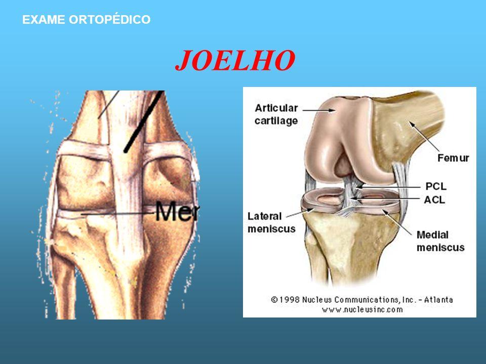 EXAME ORTOPÉDICO JOELHO