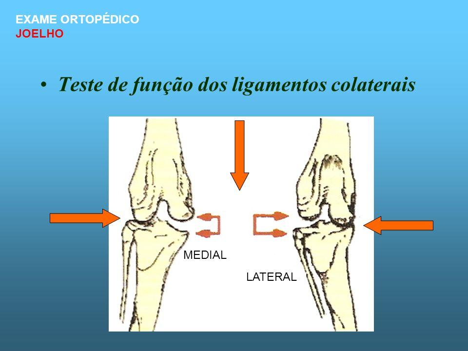 Teste de função dos ligamentos colaterais