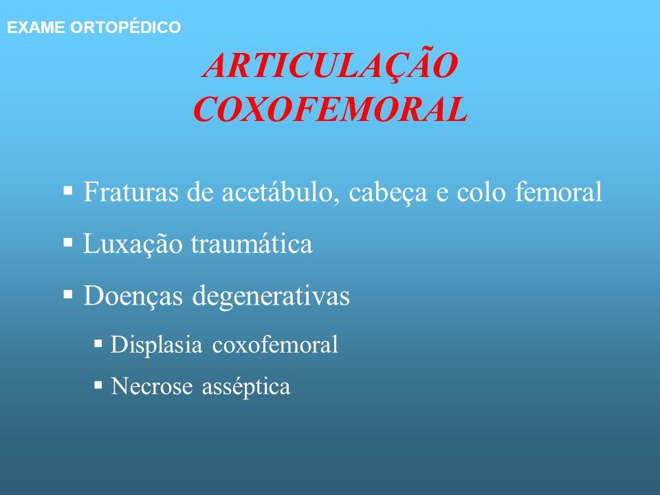 ARTICULAÇÃO COXOFEMORAL