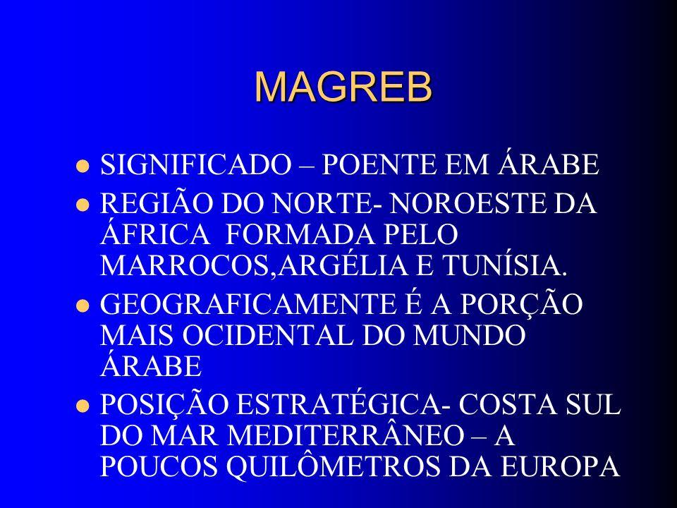 MAGREB SIGNIFICADO – POENTE EM ÁRABE