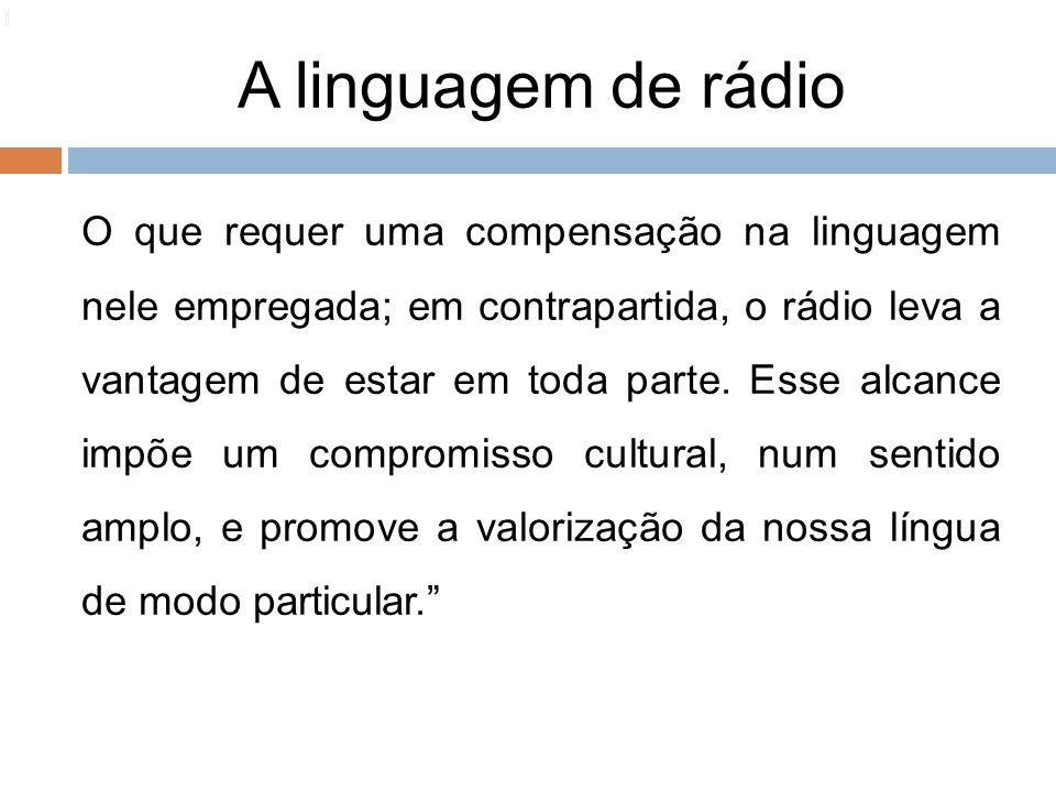 1010 1. A linguagem de rádio.