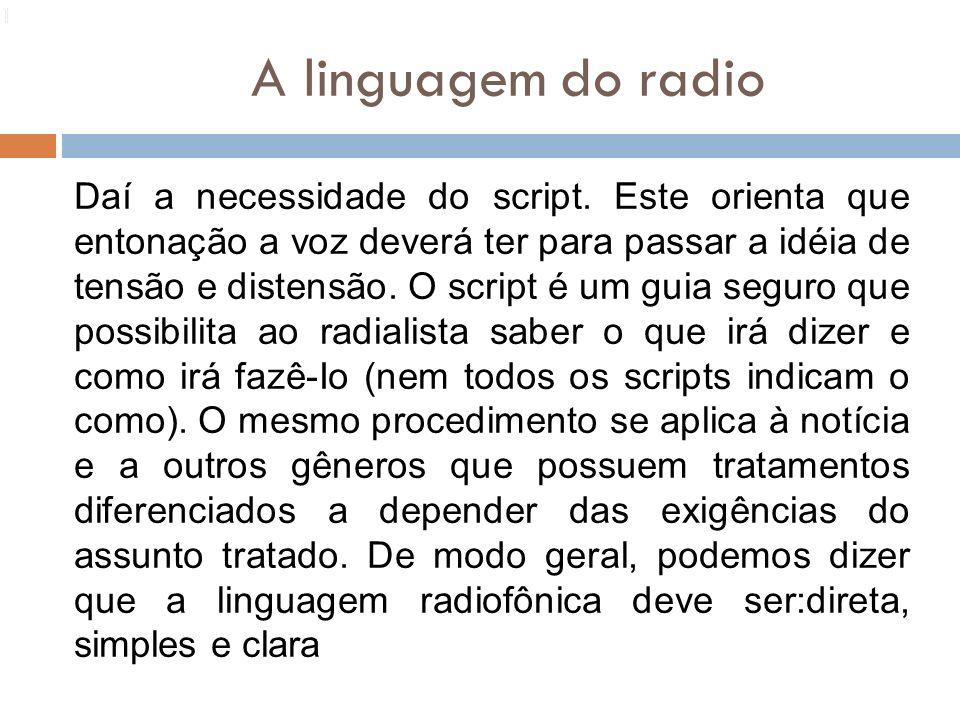 13131. A linguagem do radio.