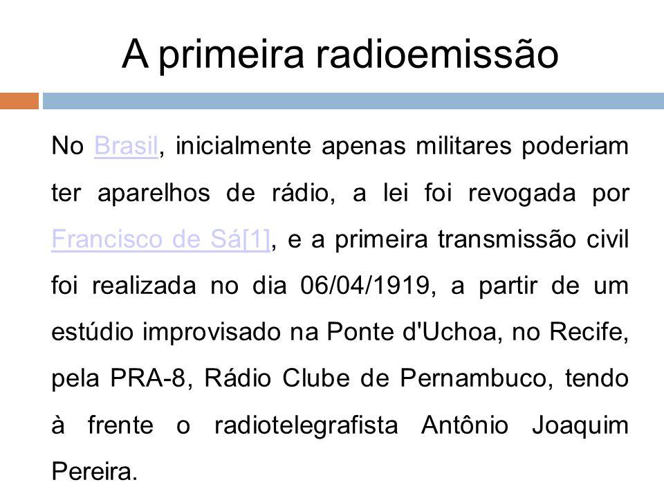A primeira radioemissão