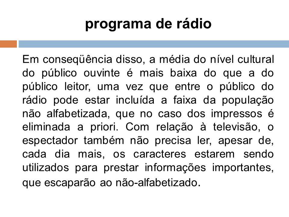 8 programa de rádio.