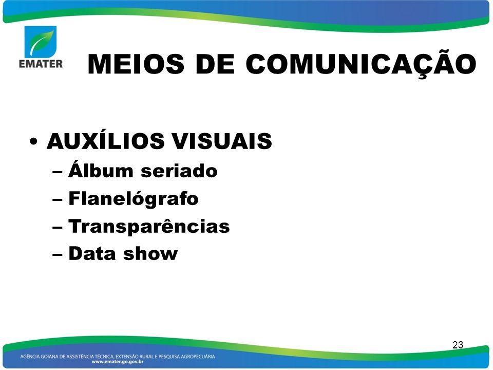 MEIOS DE COMUNICAÇÃO AUXÍLIOS VISUAIS Álbum seriado Flanelógrafo