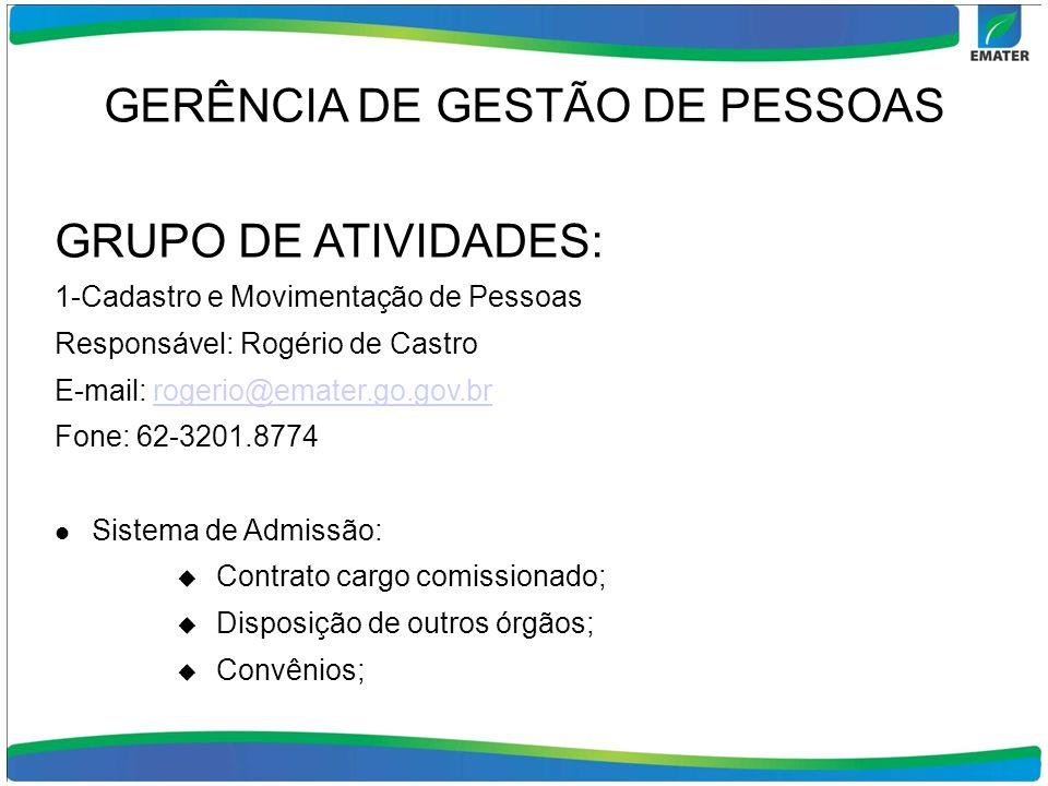 GERÊNCIA DE GESTÃO DE PESSOAS