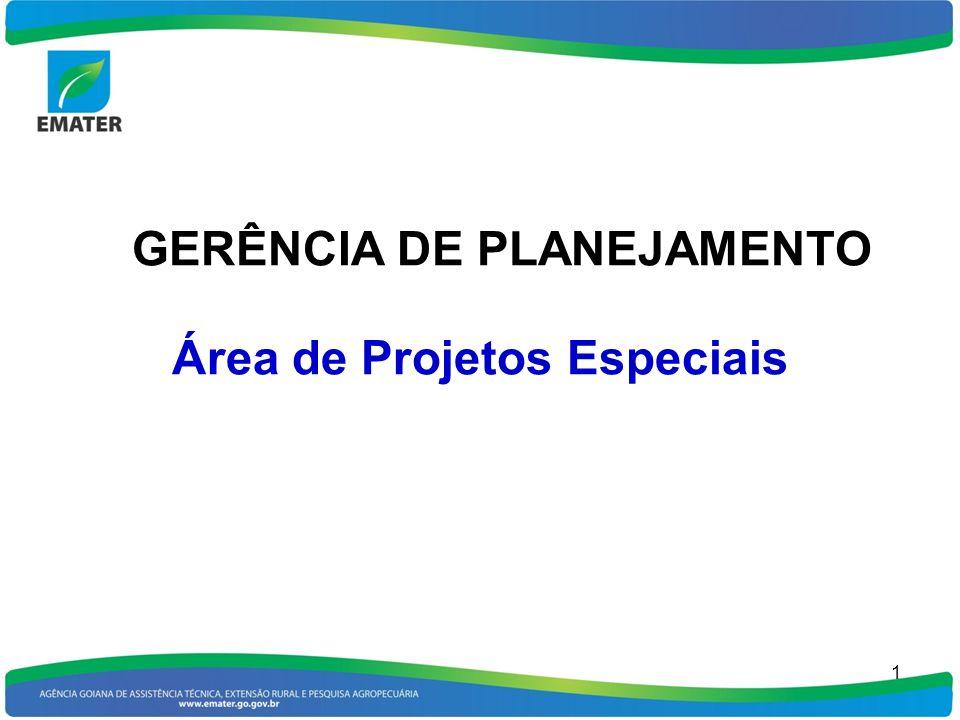 GERÊNCIA DE PLANEJAMENTO Área de Projetos Especiais