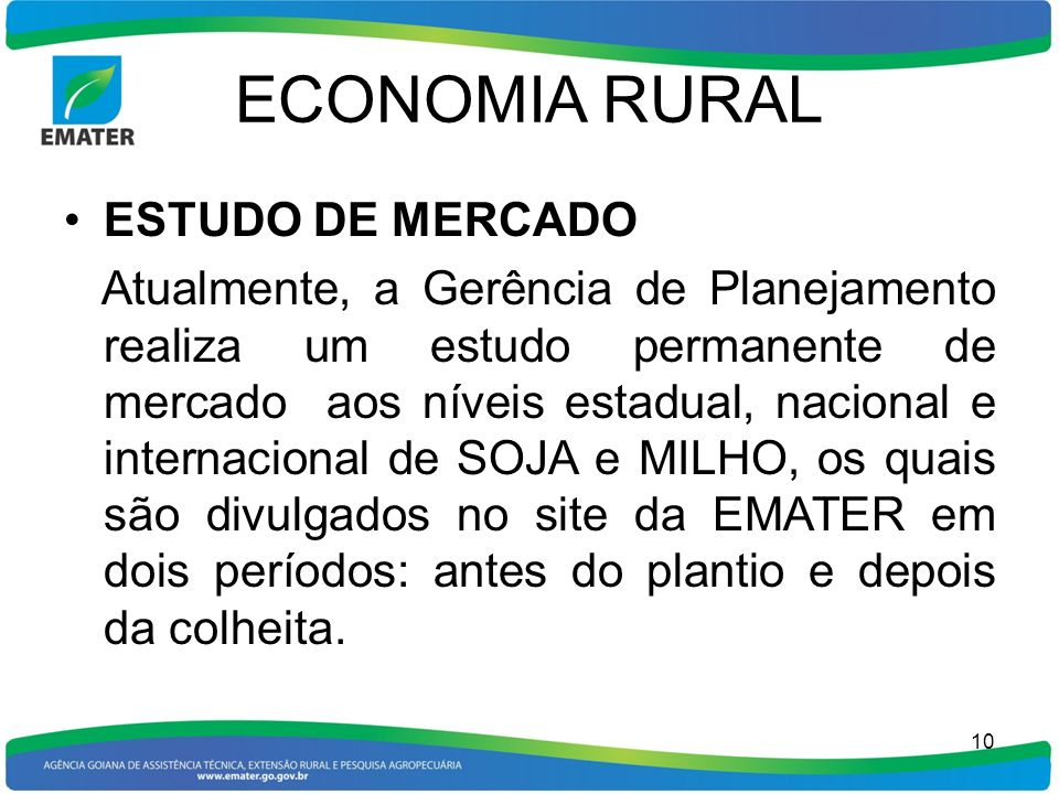 ECONOMIA RURAL ESTUDO DE MERCADO