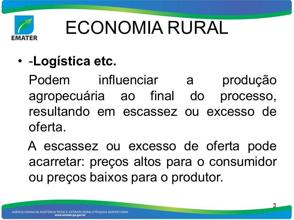 ECONOMIA RURAL -Logística etc.