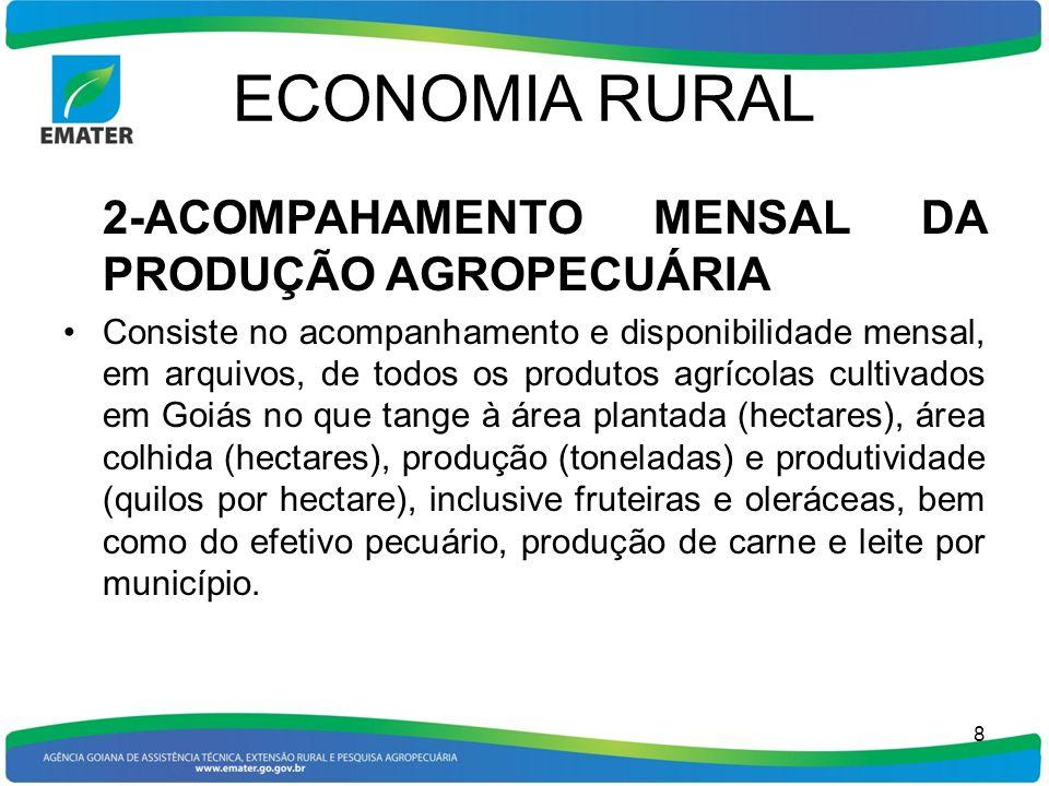 ECONOMIA RURAL 2-ACOMPAHAMENTO MENSAL DA PRODUÇÃO AGROPECUÁRIA