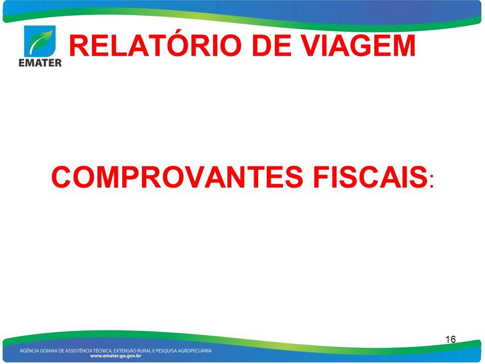 COMPROVANTES FISCAIS: