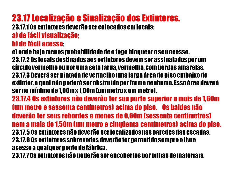 23. 17 Localização e Sinalização dos Extintores. 23. 17