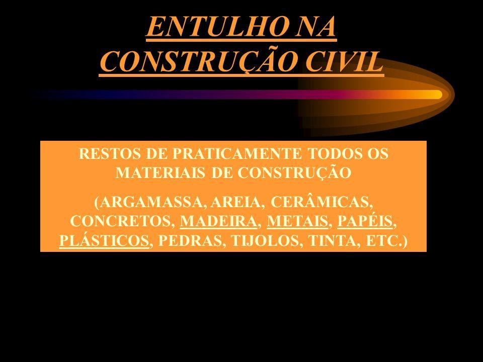 ENTULHO NA CONSTRUÇÃO CIVIL