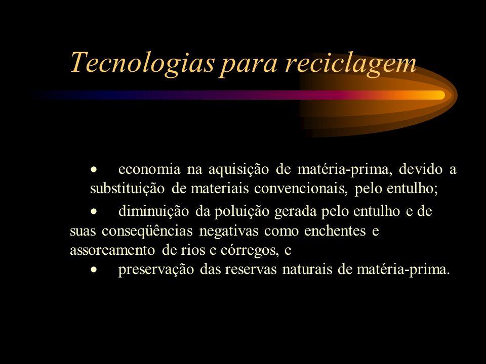 Tecnologias para reciclagem