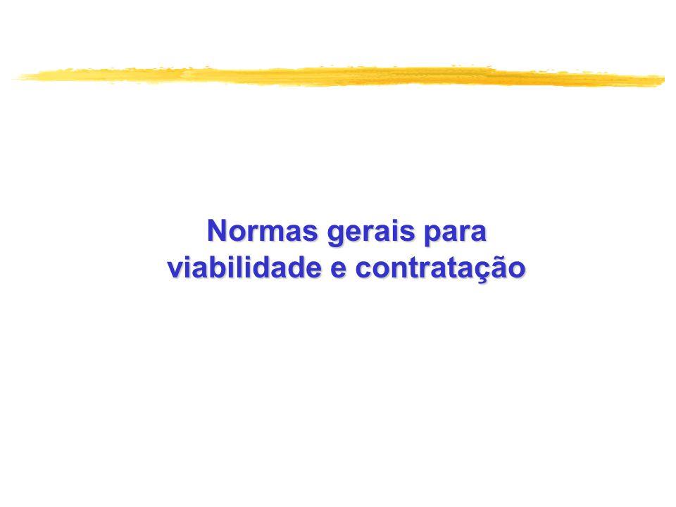 viabilidade e contratação